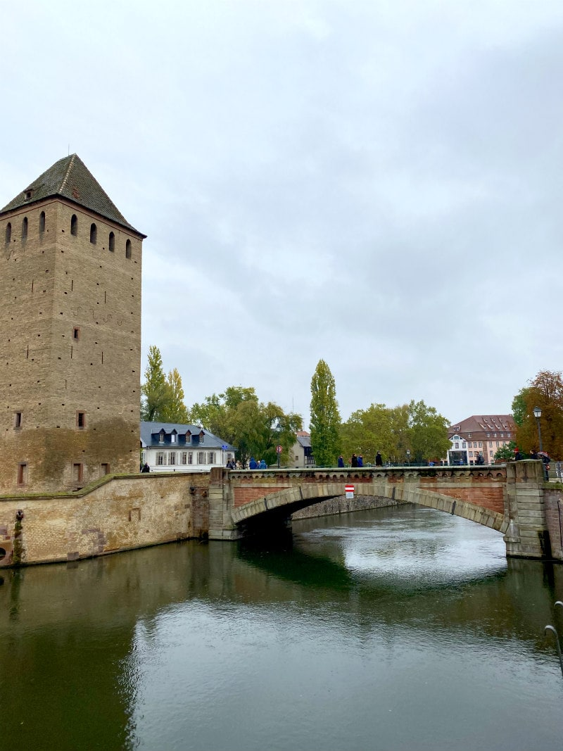 canal and bridge in Strasbourg, France
