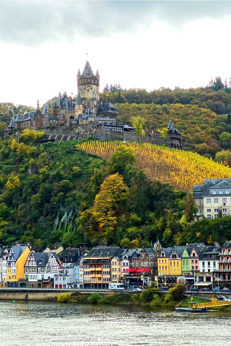Castle on the Rhine River in Germany