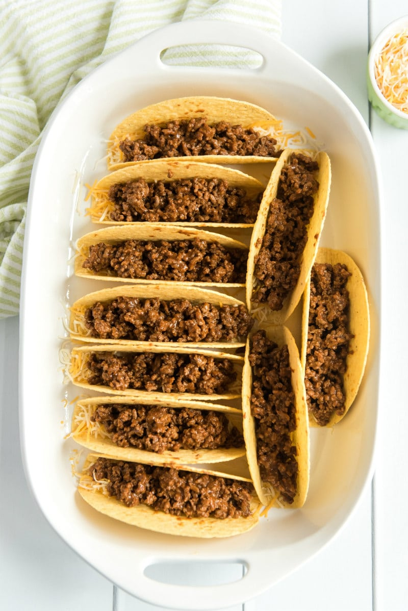 Making Oven Baked Beef Tacos