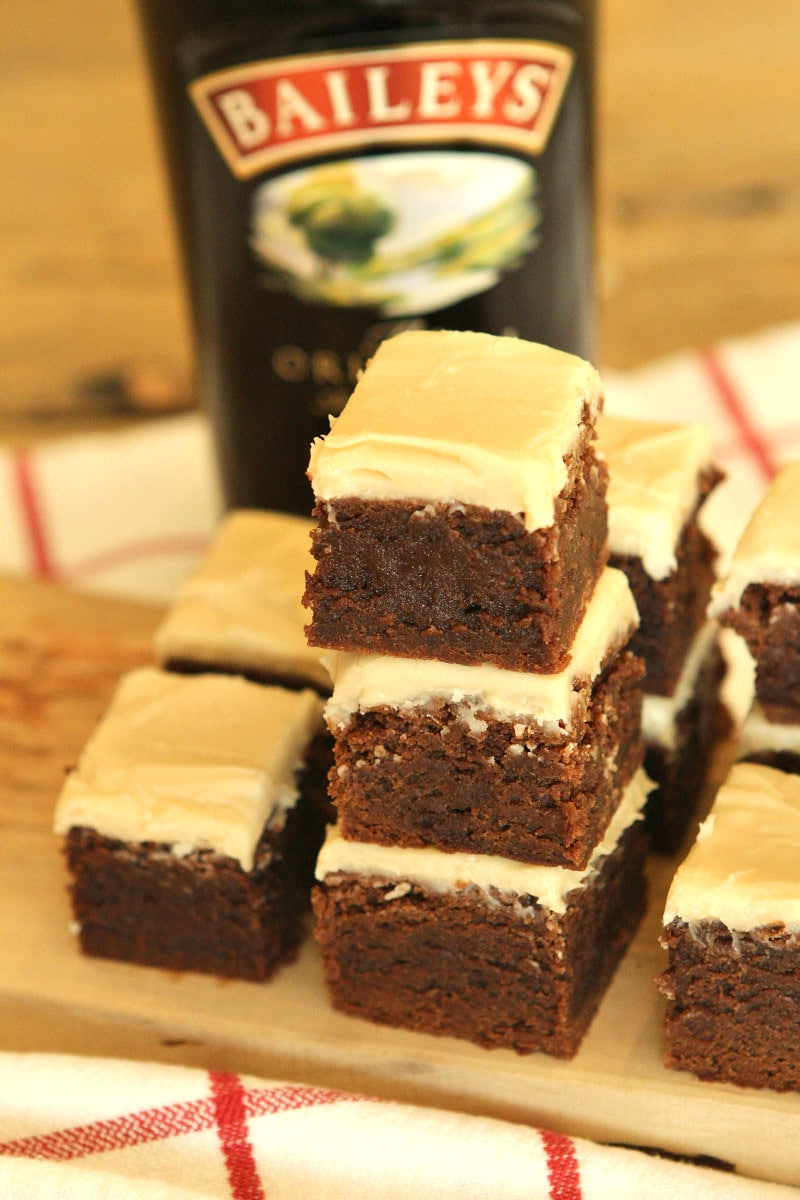 Irish Cream Brownies stacked