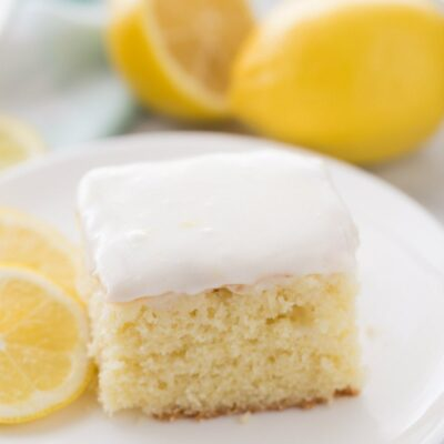 slice of Lemon Sour Cream Cake