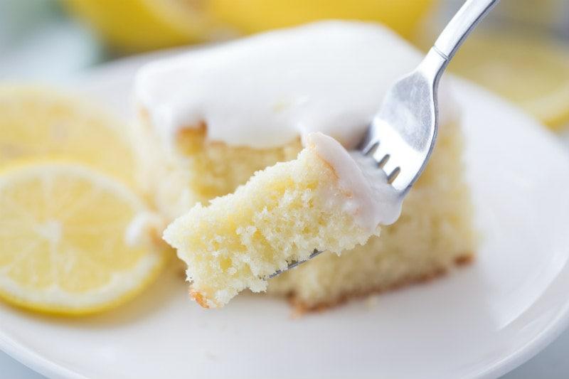 eating Lemon Sour Cream Cake