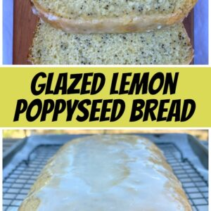 pinterest collage image for lemon poppyseed bread
