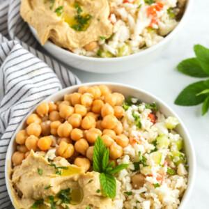 Cauliflower Tabbouleh Bowls
