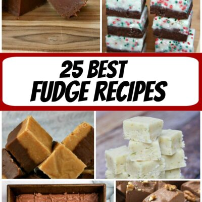 collage image for best fudge recipes