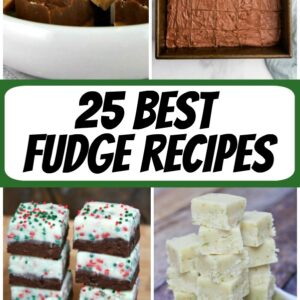 pinterest collage image for the best fudge recipes