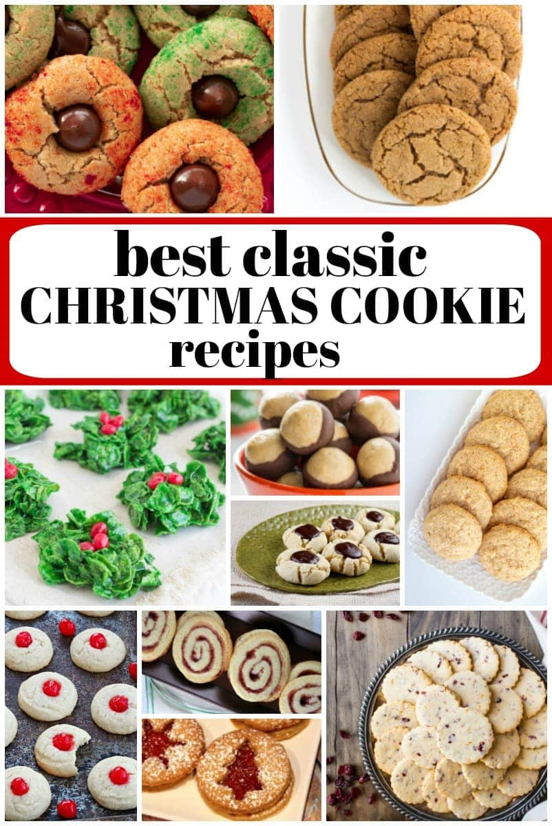 collage of the best classic Christmas Cookie Recipes