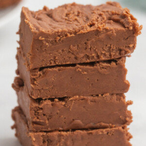 stack of chocolate fudge