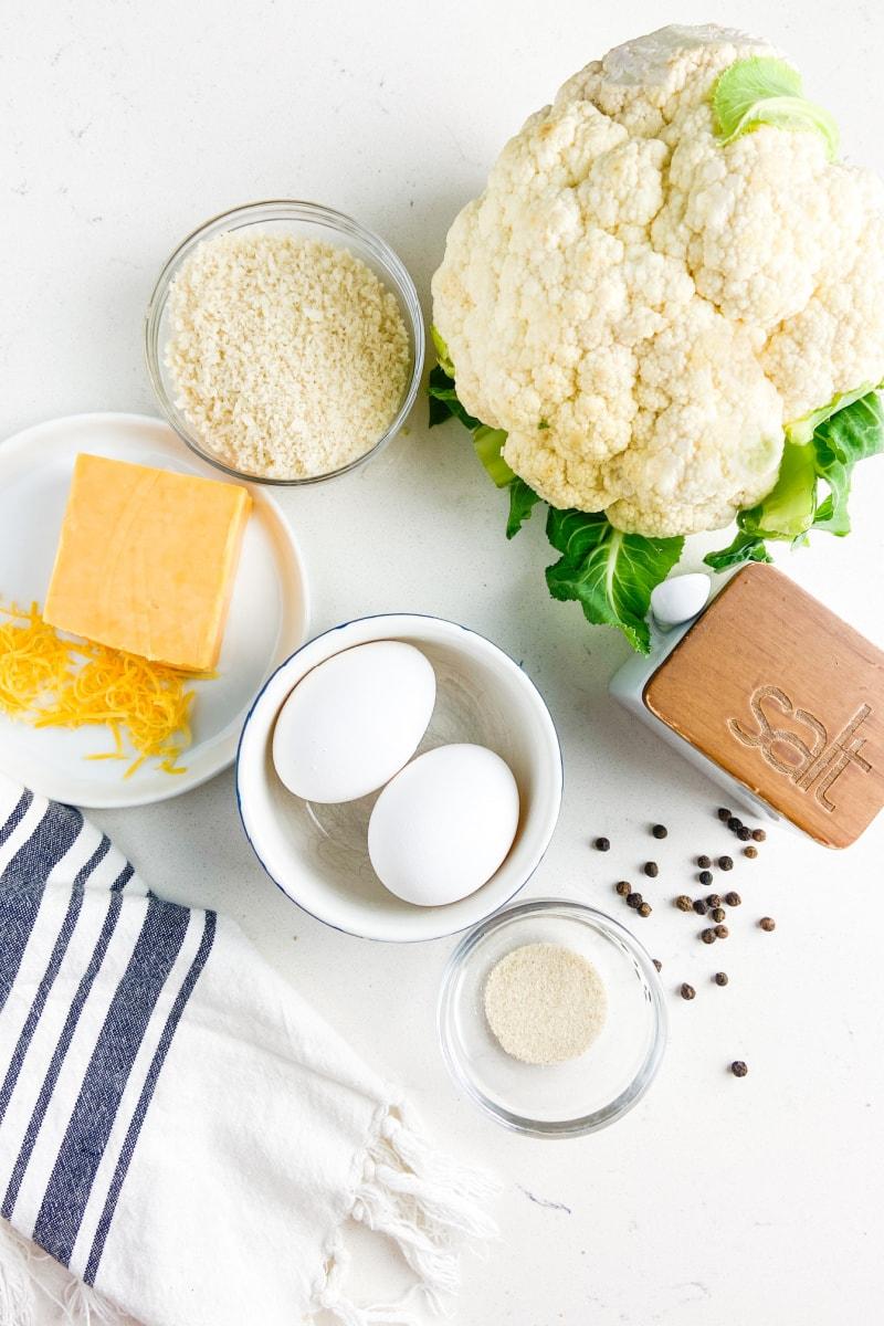 ingredients displayed for cauli tots