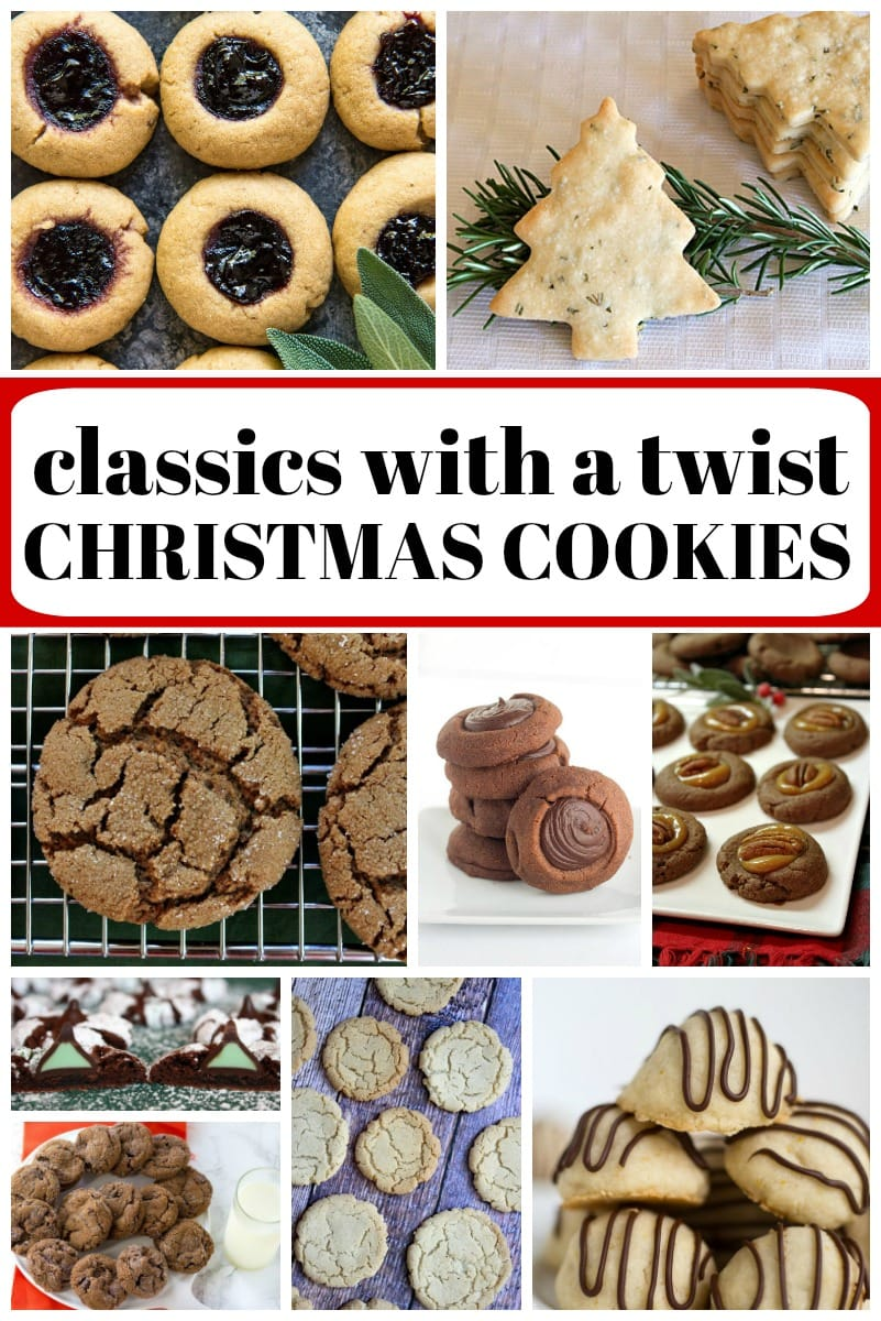 collage image for classic christmas cookies with a twist