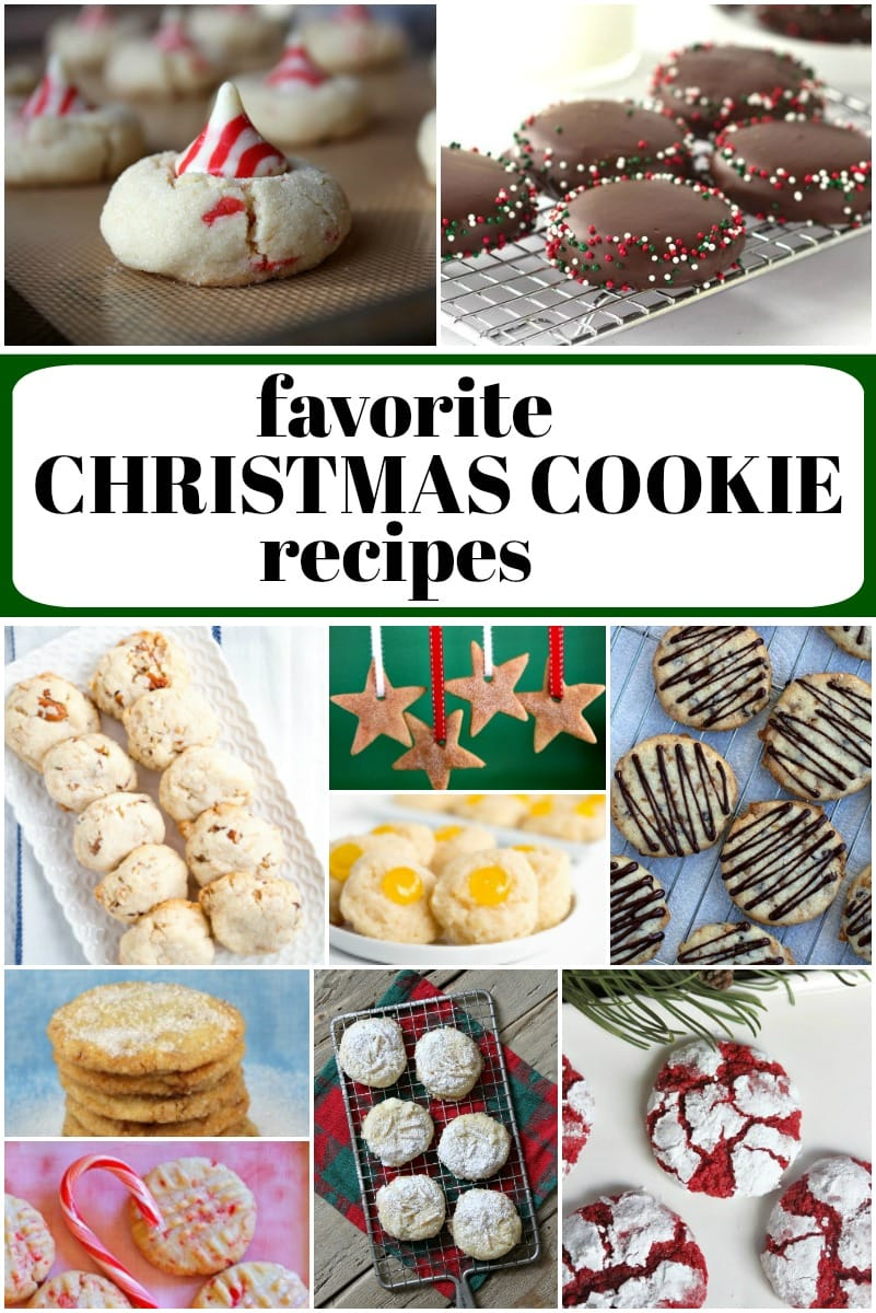 collage image of favorite christmas Cookie Recipes