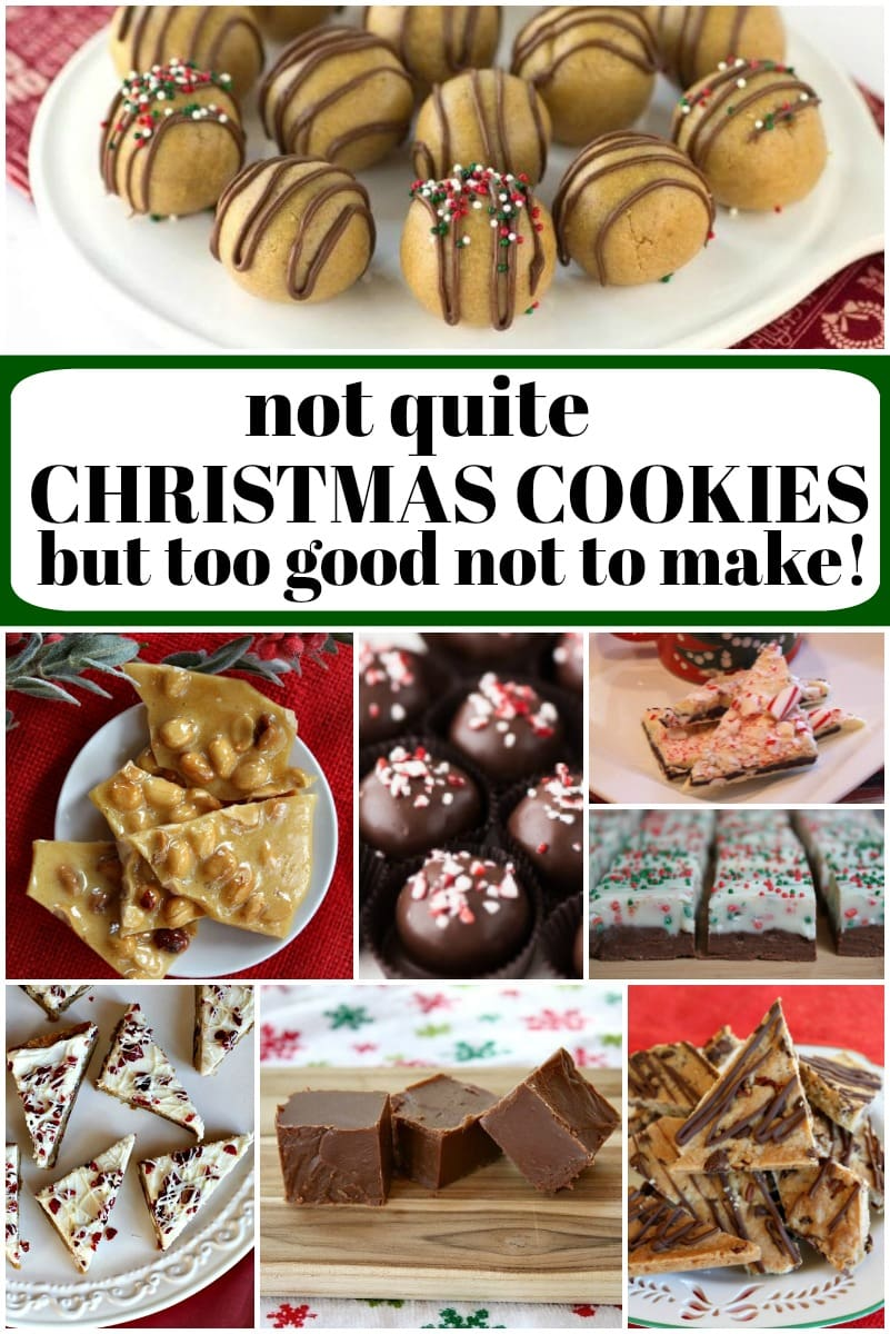 not quite christmas cookies collage image