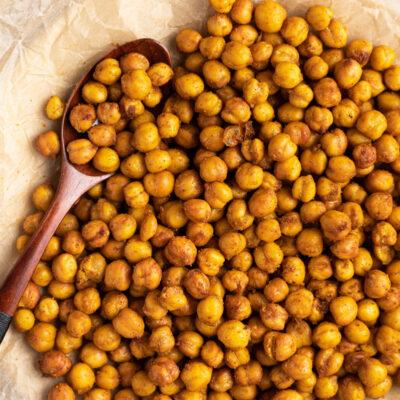 spicy air fryer chickpeas