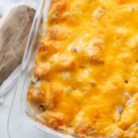 easy tater tot casserole in dish
