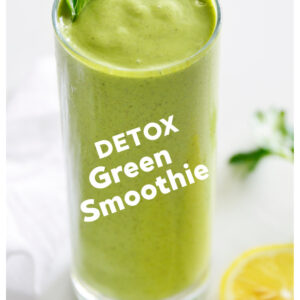 pinterest collage image for green smoothie