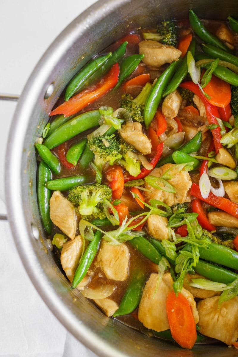 stir fry in a skillet