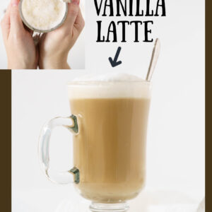pinterest image to know how to make a vanilla latte