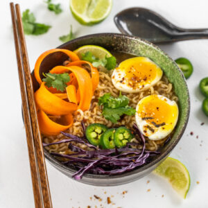 ramen bowl with chopsticks