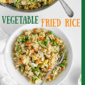 pinterest image for vegetable fried rice