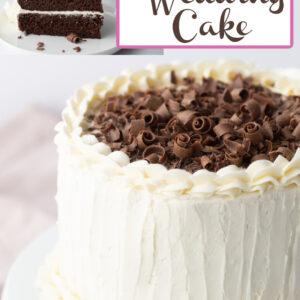 pinterest collage image for chocolate wedding cake