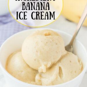 pinterest image for one ingredient banana ice cream