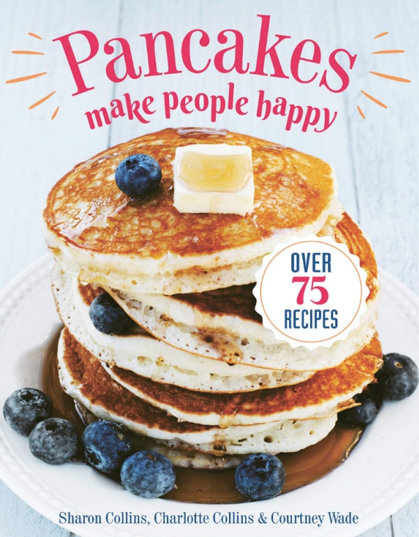 cookbook cover of pancakes make people happy