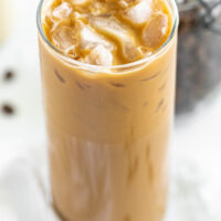 vietnamese iced coffee in a tall glass
