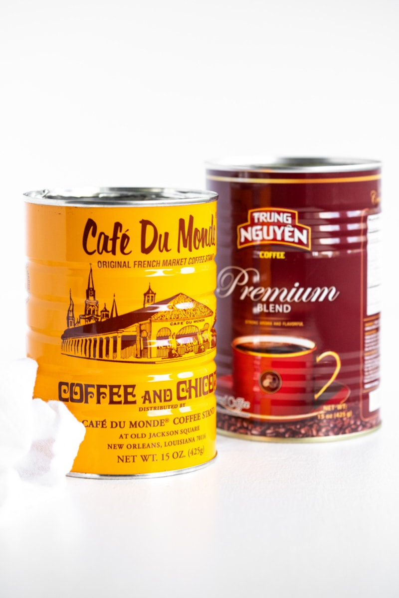 two coffee cans