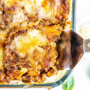 pinterest image for zucchini lasagna