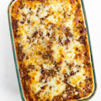 pan of lasagna