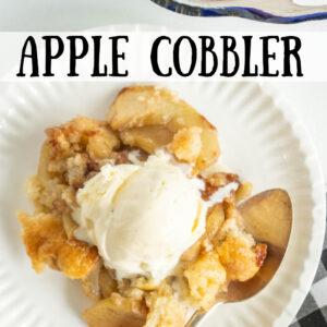 pinterest image for apple cobbler