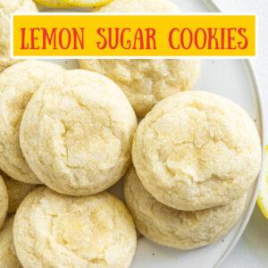 pinterest image for lemon sugar cookies