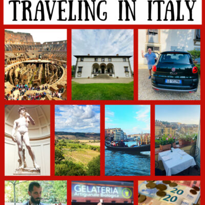collage travel in italy